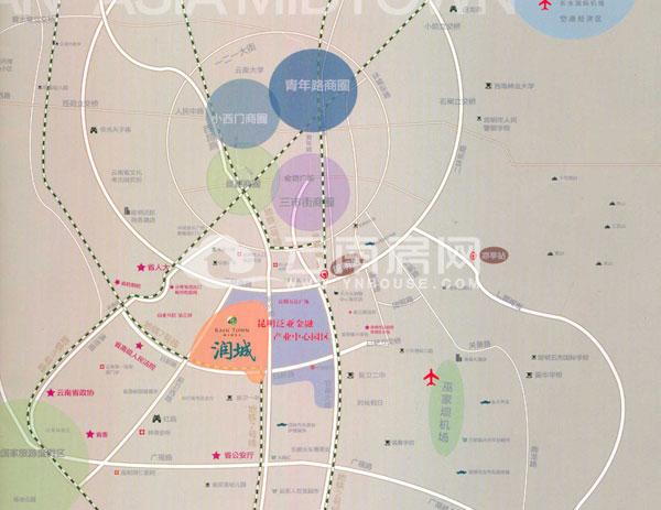 昆明前卫西路地图